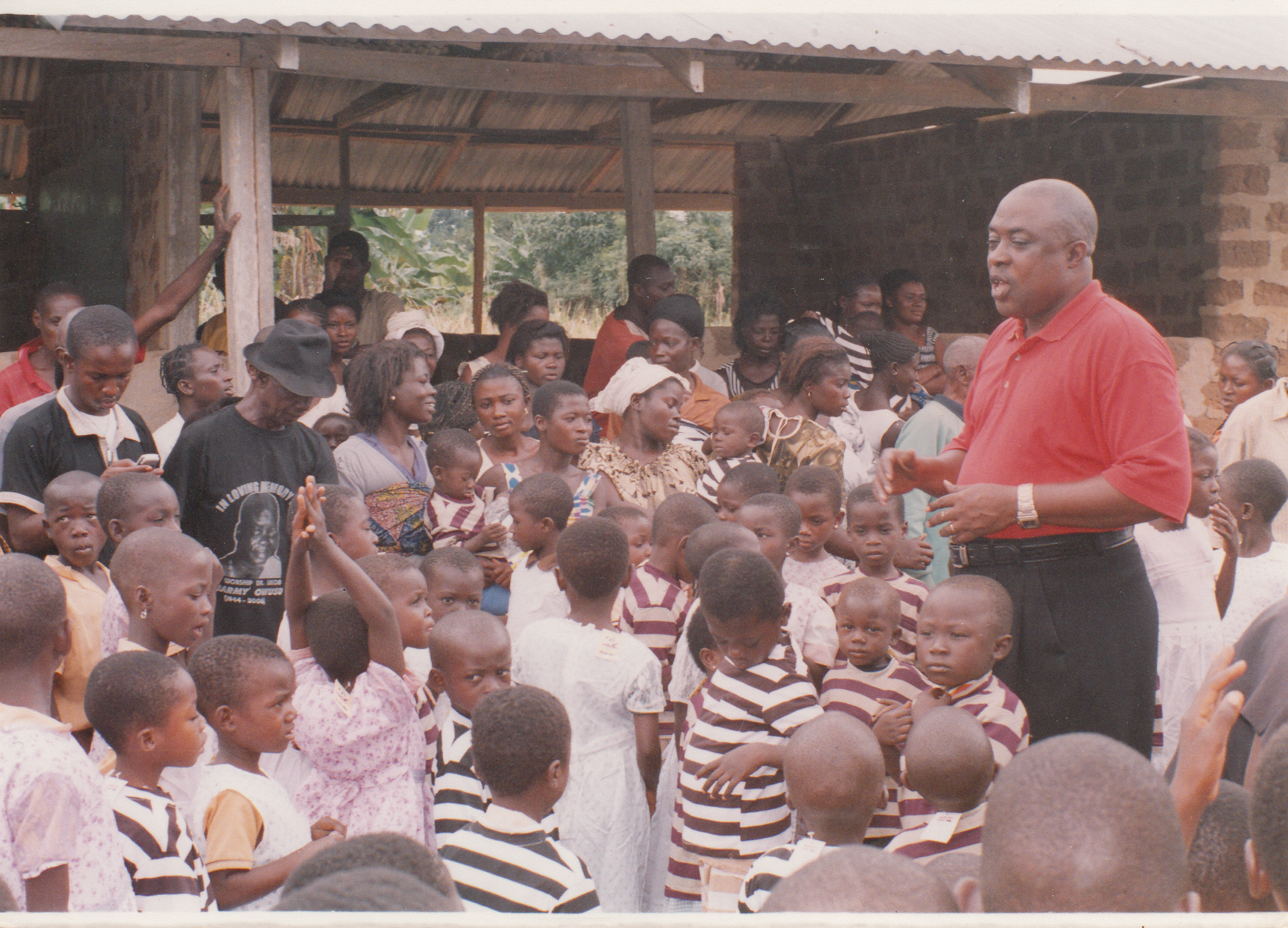 PRESENTATION OF DRESSES TO SCHOOL CHILDREN AT ATWIMA KOKOBEN-ASHANTI REGION