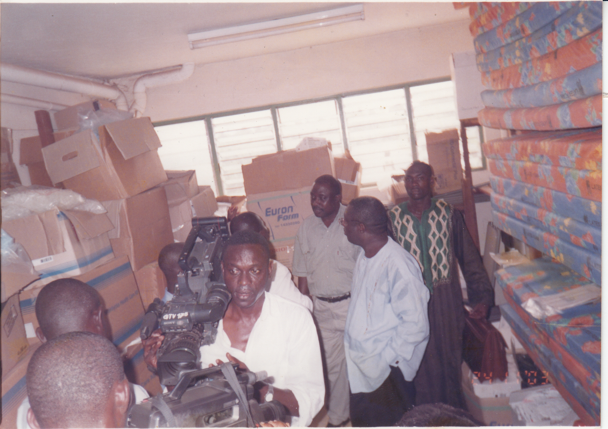 AT SEHWI WIAWSO WITH THE THEN MINISTER OF HEALTH