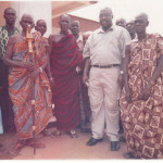 WITH THE GYAASE HENE AND THE ELDERS OF THE SEHWI WIAWSO TRADITIONAL AREA