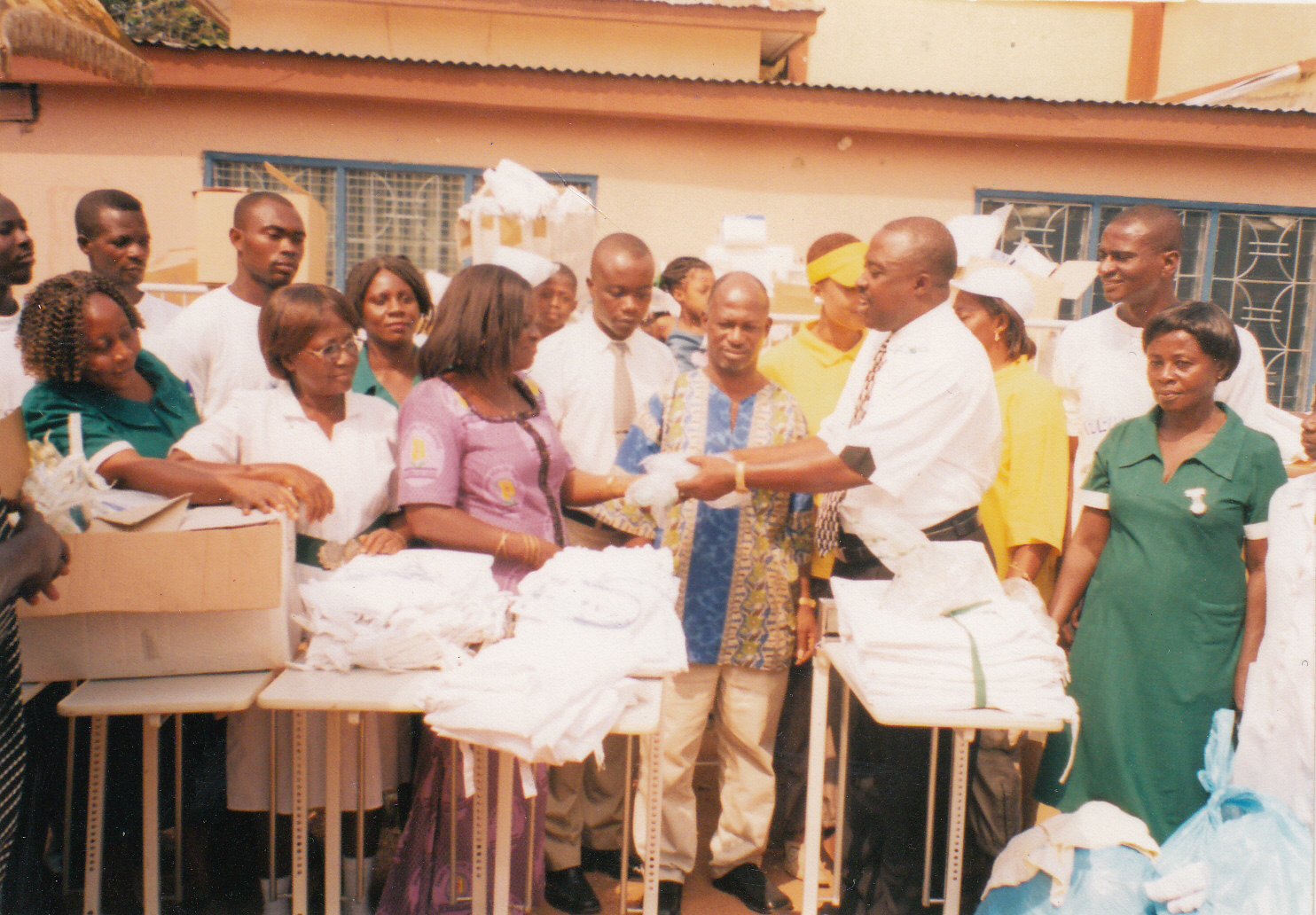 DONATION TO THE NKAWIE GOVERNMENT HOSPITAL