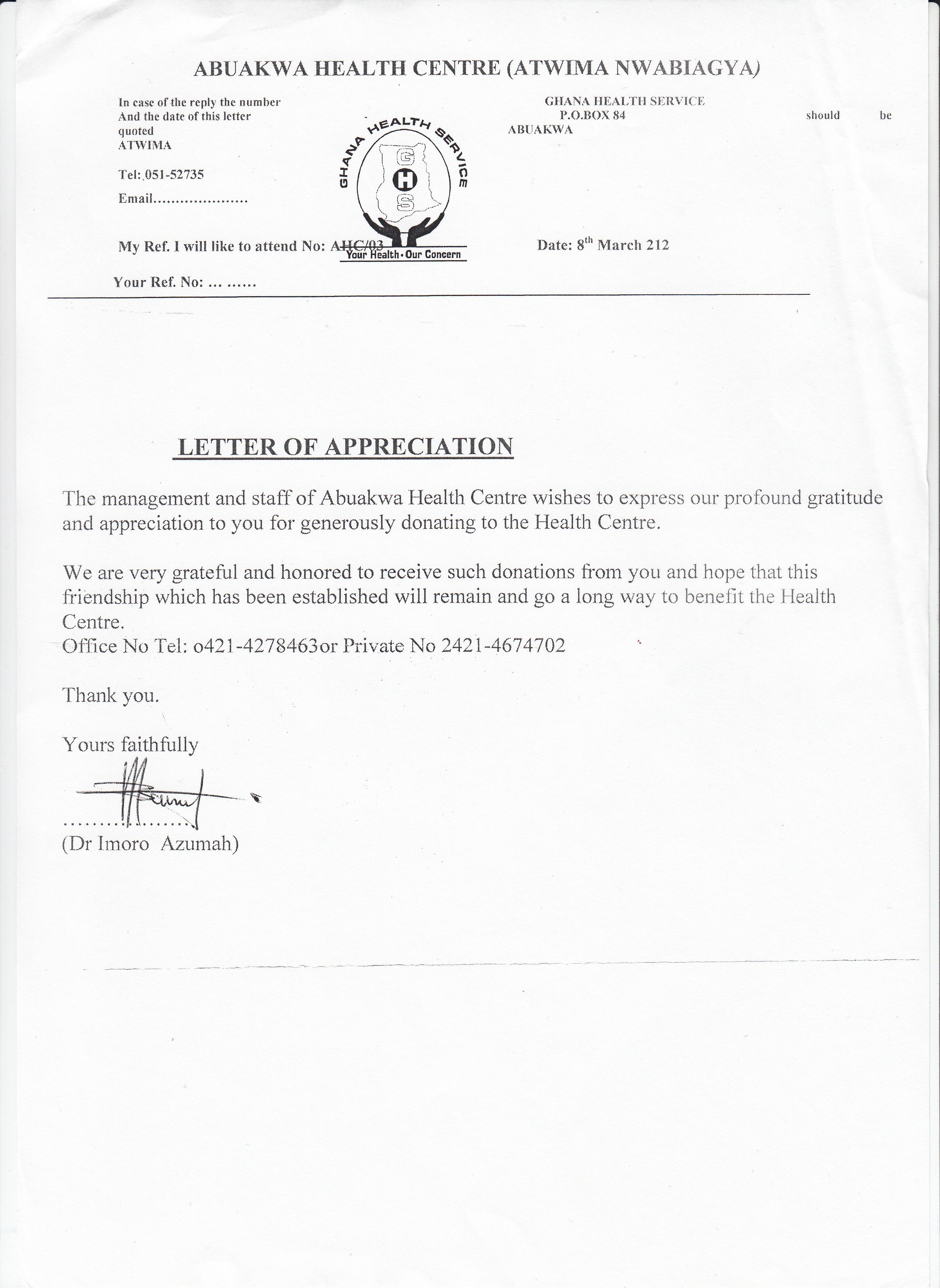 SHOW OF GRATITUDE